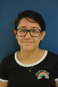 Abigail Salazar is a 11th grader and is in her first year as a Shield Reporter. She is involved with Robotics after school and plays steel drums. She likes to watch romantic movies and enjoys lazy days in.