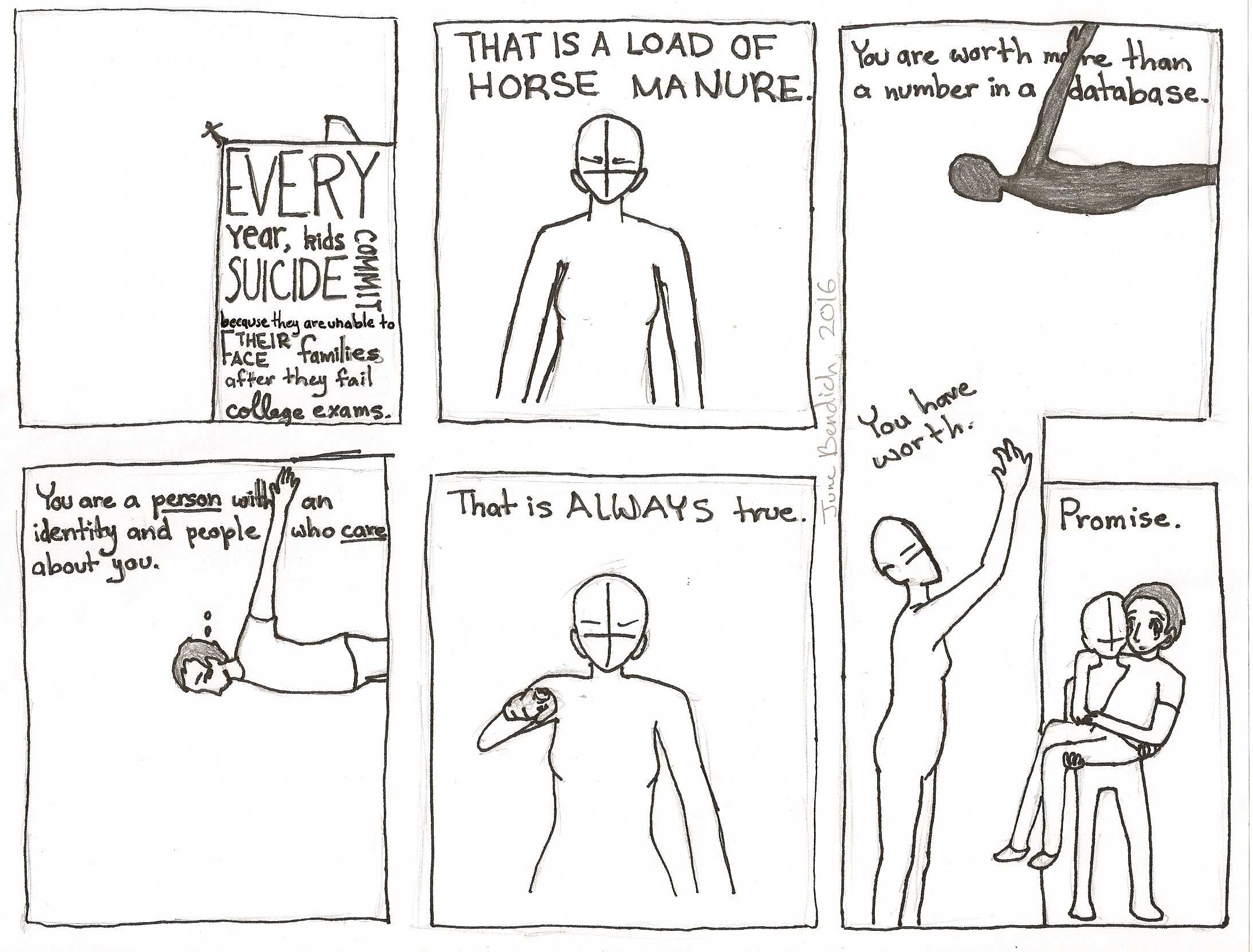 Comic by sophomore June Bendich