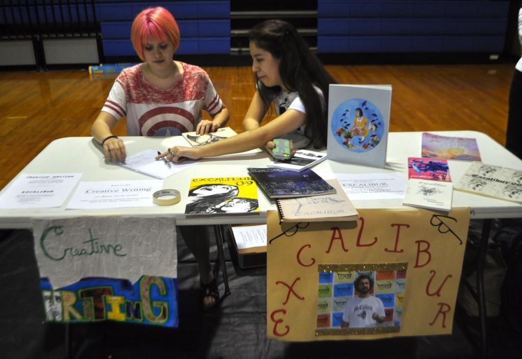 "Excalibur is McCallum's student literary magazine. ""It's completely student-run, from the creation to the production,"" said senior Airieka Rinehart. ""My favorite thing is the teamwork, because we're students but we're making a magazine."""