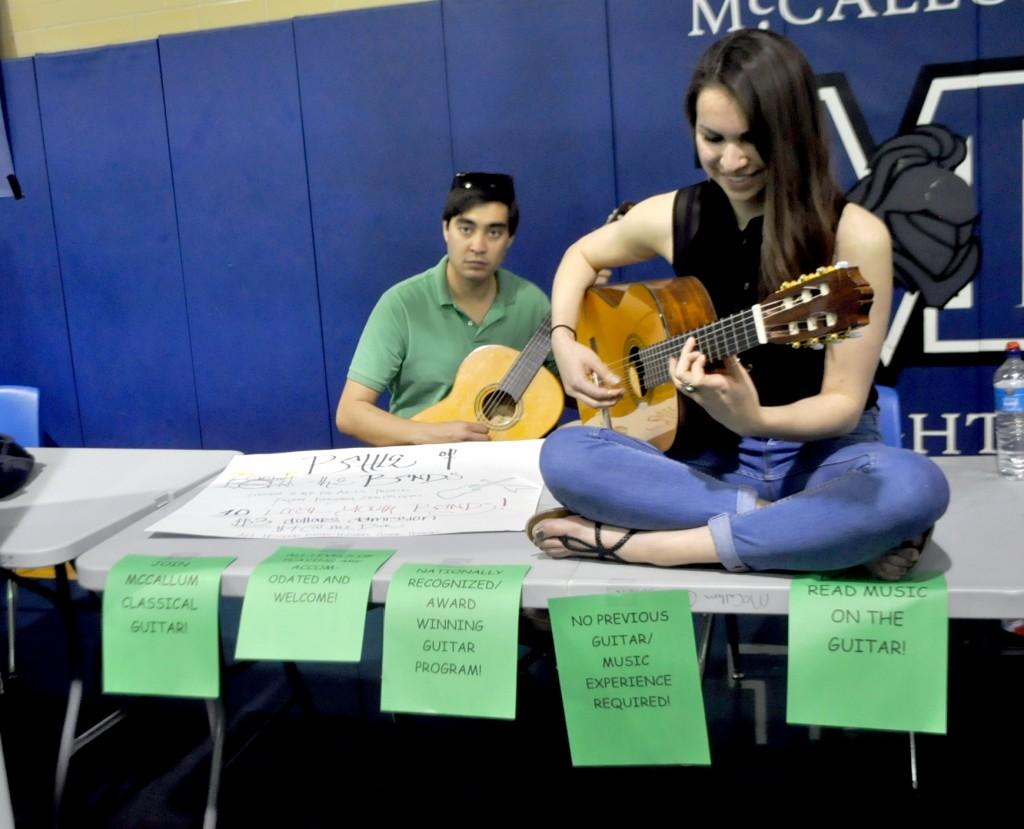 Guitar players of any level can join McCallum's nationally recognized guitar program.