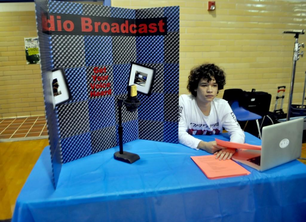 "Radio Broadcast is a unique class that gives students the experience of participating in the MAC radio station, at macradioaustin.com. ""We're the only high school that has it,"" senior Damon Meredith said. ""We're the originators of the curriculum for the state of Texas."""