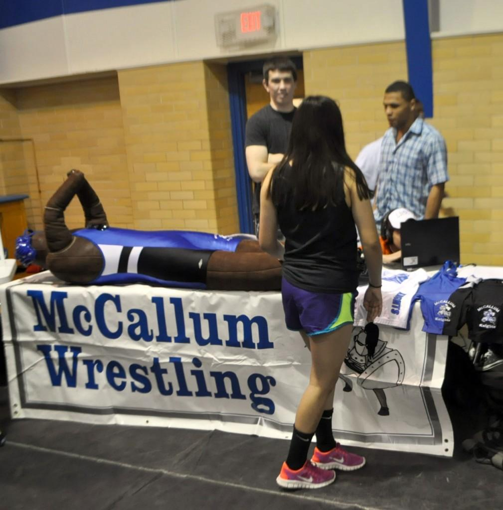 McCallum has an award winning wrestling team. Contact coach Ray Amaro (ramaro@austinisd.org) for more information about joining the team.
