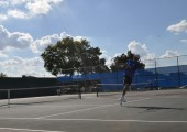 Senior Alonso Fernandez won his match against his LBJ opponent Sept. 16.