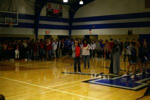 Mac holds pep rally to celebrate spring sports, Go Red for Women initiative
