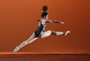 "Dos Santos performs her senior solo at the ""Last Dance"" spring show on April 22. Photo by Dave Winter."