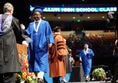 Sanders, aka Don Otto, was the penultimate graduation to cross the stage at the Erwin Center in June.