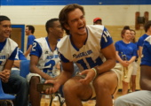 Perez screams with laughter as he witnesses his teammates being kissed by their moms on the Sept. 29 pep rally before the LBJ game. Photo by Dave Winter. Left: Perez scored the second of three rushing touchdowns he scored against Crockett. Photo by Gregory James.